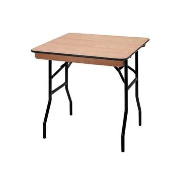 2ft 6in Square Wooden Folding Table