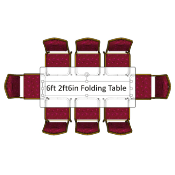 6ft 2ft 6in Folding Table