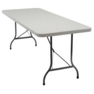6ft Plastic Folding Table 1 Piece Trestle