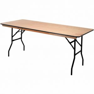6ft Wooden Folding Trestle Table