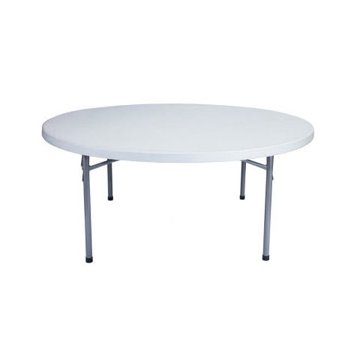 3ft 8in Round Plastic Folding Table