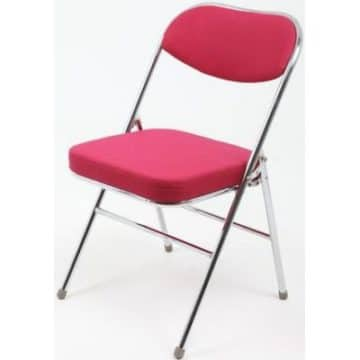 Red padded folding chair