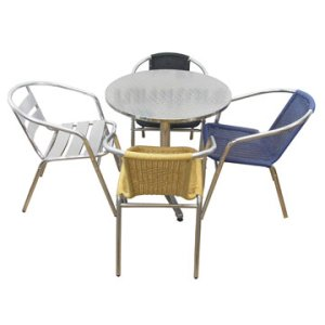 Aluminium Cafe Table and Chair Selection