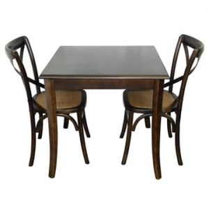 80cm Elm Restaurant Table and Cambridge Restaurant Chairs