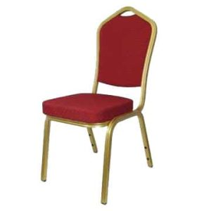 Aluminium Emperor Red Banqueting Chair