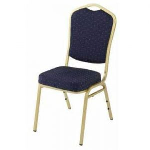 Steel Stacking Chair - Blue