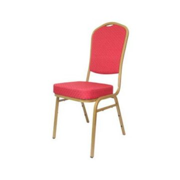 6 Red Steel Emperor Stacking Chair