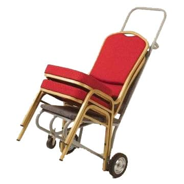 Aluminium Emperor Banqueting Chair on Trolley