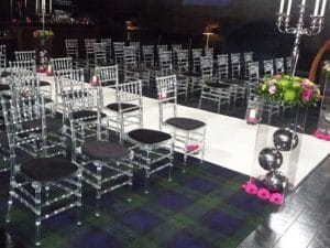 ice chairs with black seat pads