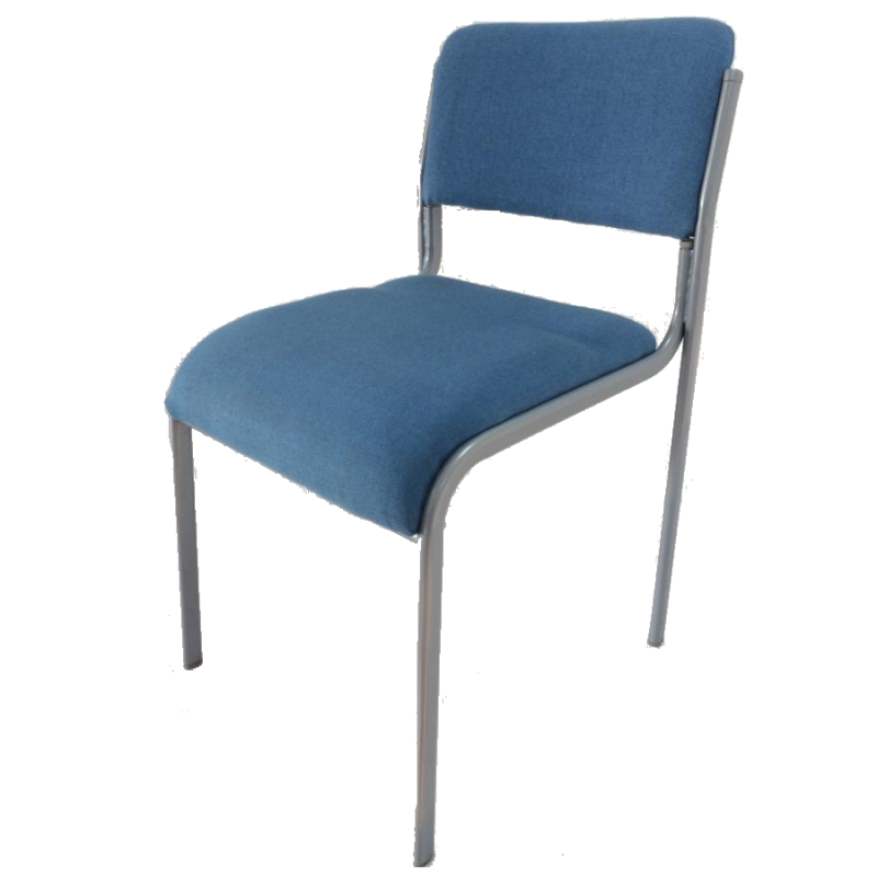 Conference Stacking Chair Light Blue
