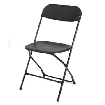 Samson Black Plastic Folding Chair