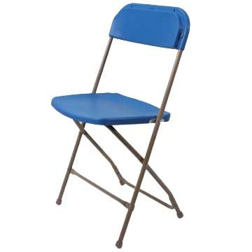 Samson Blue Plastic Folding Chair