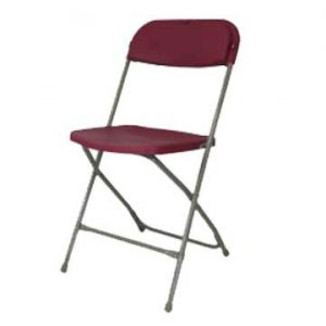 Burgundy Samson Plastic Folding Chair