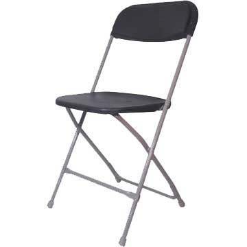 Grey Plastic Folding Chair