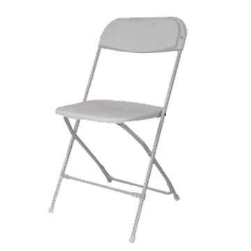 Samson White Plastic Folding Chair