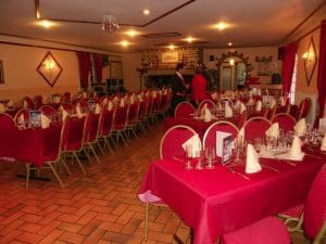 spoon backed banqueting chairs