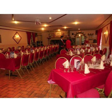 Steel Spoon Backed Banqueting Chairs in Function Room