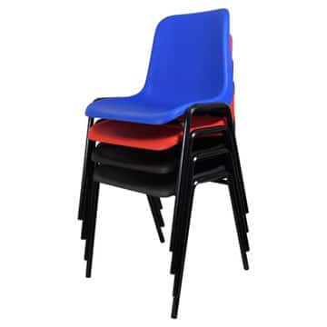 Plastic Stacked Chairs 10 High