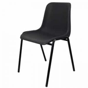 Anthracite Plastic Stacking Chair