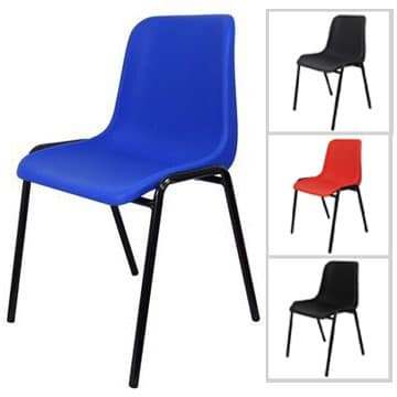 Coloured Plastic Stacking Chairs