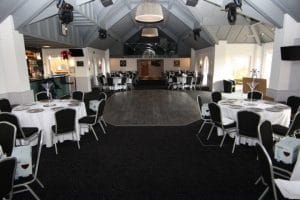 Steel Emp Banquet Chairs and Trestle Tables