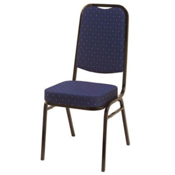 Steel Square Back Banqueting Chair Blue/Black