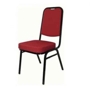 Square Back Banqueting Chair Red/Black