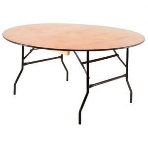 5ft 6in Round Wooden Folding Table