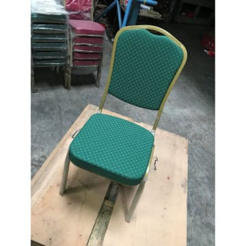 Steel Emp Banquet Chair - Green and Gold