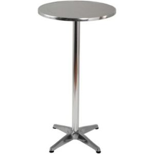 Aluminium estrel poseur table