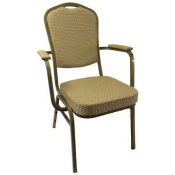 Steel Emperor Banqueting Chair Gold with Arms