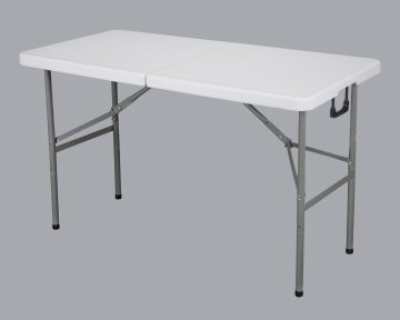 4ft plastic Folding Table and 4 Chairs
